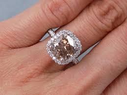 engagement ring cushion cut 3 69 ctw cushion cut engagement ring chocolate vs2