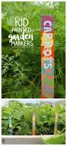 paint sticks as garden markers kids craft a and a glue gun