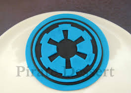 wars edible image wars edible cake topper galactic empire logo
