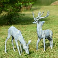 and animal garden statues