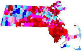 Massachusetts Town Map by Ma Sen Map Of Special Election Results By Town