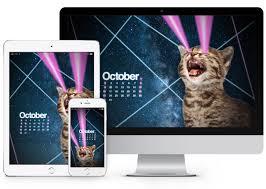 Small Desktop Calendar Free October 2016 Desktop Calendar Wallpaper Paper Leaf