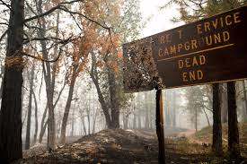California Wildfires Hume Lake by A Campground Sign Near Hume Lake Is Burned By The So Called