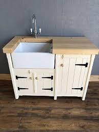 stand alone kitchen sink unit pine freestanding kitchen belfast butler sink unit cupboard rustic shabby chic ebay