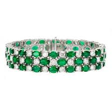 diamond emerald bracelet images Emerald diamond bracelet eternity jewelry jpg