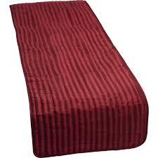 catherine lansfield satin look quilted bed runner luxury plain