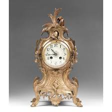 Large Silver Mantel Clock 19th C French Rococo Bronze Mantle Clock From Piatik On Ruby Lane