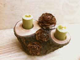 wooden candle holder home design ideas