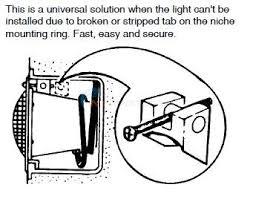 How To Replace Pool Light Pool Tool Company Wedge Repair Light 132 Inyopools Com