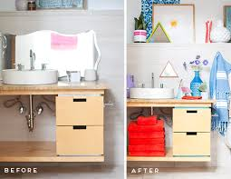 Bathroom Makeovers Before And After Pictures - before and after how i overhauled my guest bathroom for under