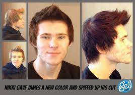 male hair extensions before and after gel salon clients