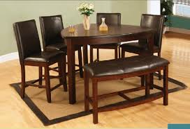 counter height dining table with bench 6 pieces triangle counter height dining set with bench dining room