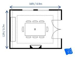 dining room layout 12ft x 16ft dining room layout for 8 with a rectangular table the