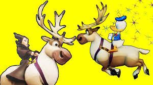 disney cartoon characters riding sven reindeer nursery rhymes