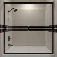 Sliding Glass Shower Door Handles by Shop Arizona Shower Door Traditional 54 In To 58 In Frameless Oil