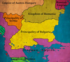 Map Of Bulgaria Bulgaria According To The Treaty Of San Stefano March 1878