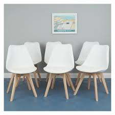 White Dining Chairs Great New 6 White Dining Chairs House Prepare Table Leather With