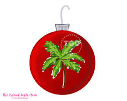 palm tree ornament etsy