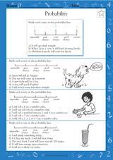 probability lines math practice worksheet grade 4 teachervision