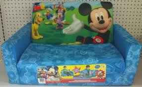 Flip Open Sofa by Mickey Mouse Flip Sofa Bed With Sleeping Bag Image Fatare Com
