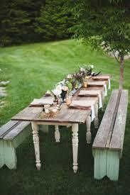 bench picnic table wedding beautiful outdoor bench table diy