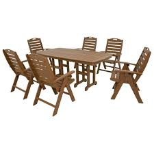 High Patio Dining Sets - trex outdoor furniture yacht club tree house 7 piece high back