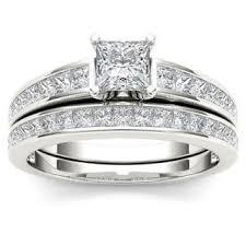 Princess Cut Diamond Wedding Rings by Princess Bridal Jewelry Sets Shop The Best Wedding Ring Sets