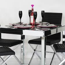home design mirrored dining table furniture room curved black