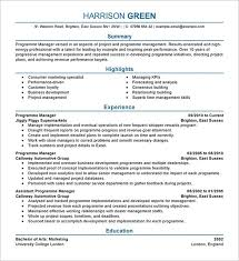 manager resume template u2013 15 free samples examples format