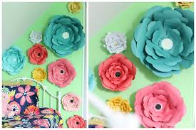 how to make large paper flowers youtube