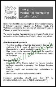 jobs nestle pakistan limited karachi jobs 2017 medical