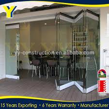 Bi Folding Glass Doors Exterior Frameless Glass Folding Door Hardware Frameless Glass Folding