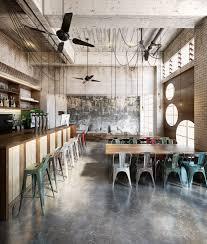 artistic architecture 3d restaurant renderings industrial