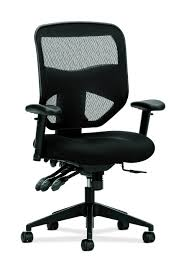 Black And White Desk Chair by Basyx By Hon Vl532 Fabric High Back Chair Black By Office Depot