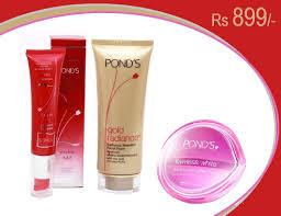 ponds products set of 3 1 flawless white visible lightening day