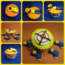 cupcake decorado cupcake pistola nerf gun nerf mis galletas