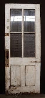 30 Exterior Door With Window Antique Wood Wooden Exterior Entry Door Chickenwire Glass Lite