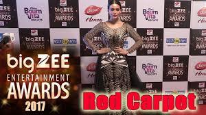 Red Carpet Entertainment Sana Khan Walks The Red Carpet Of Big Zee Entertainment