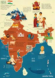 Maps Of India by Map Of India Jennifer Farley Illustration U0026 Design