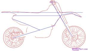 how to draw a dirt bike step by step motorcycles transportation