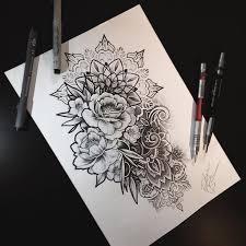 best 25 mandala flower tattoos ideas on pinterest mandala
