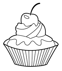 unique cupcake coloring page 45 with additional coloring print