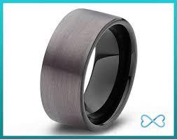 gunmetal wedding band tungsten wedding bands mens ring mens wedding bands black wedding