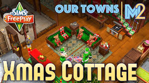 sims freeplay christmas cottage original house design youtube