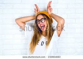 Going Crazy Young Pretty Going Crazy Stock Photo 336923792