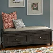 Storage Bench With Drawers Albright Storage Bench With Cushion