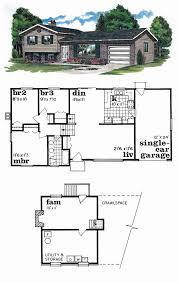 tri level home plans designs tri level floor plans awesome tri level house plans 1970s 28
