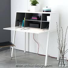 bureau de secr aire meuble bureau secretaire design bureau design blanc mat amovible