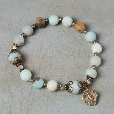 amazonite rosary bracelet the catholic company