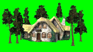 medieval house trees in the wind green screen effect youtube
